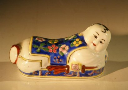 Image: Pillow Baby Figurine - Porcelain