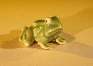 Ceramic Frog Miniature Figurine
