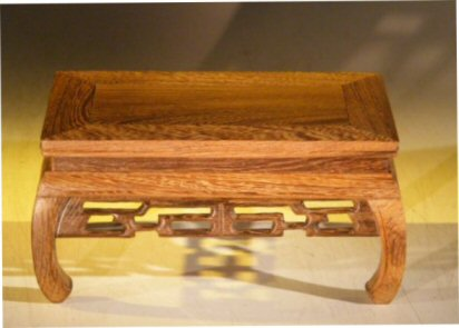 Image: Wooden Display Table - 7.75 x 4.75 x 4.0 tall