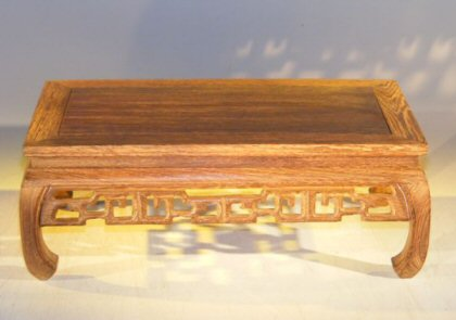 Image: Wooden Display Table - 12 x 7.25 x 4.75 tall