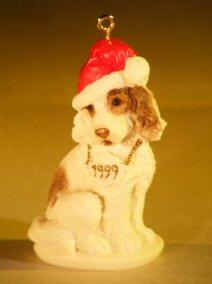 Miniature Ceramic Dog Figurine Christmas Tree Decoration By Giuseppe Armani