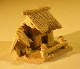 Image: Miniature Cottage Figurine - 1.25 x 1 Tall