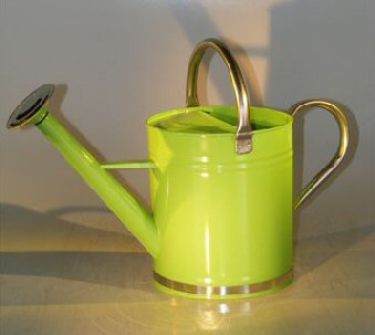 Image: Zinc Watering Can - Pastel Green Color 9.5 x 5.5 10.0 Tall