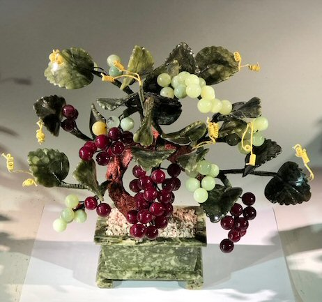 Decorative Glass Grape Bonsai Tree Image