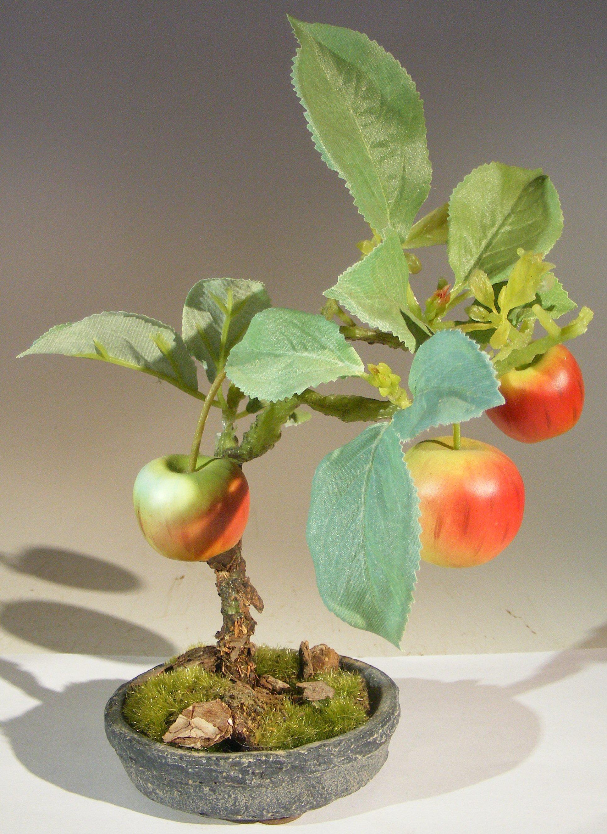 Artificial Apple Bonsai Tree