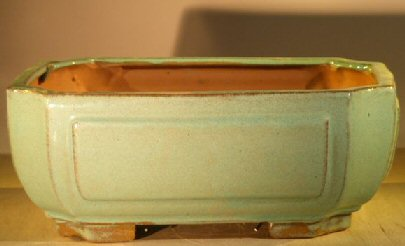 Image: Ceramic Bonsai Pot - Professional Series Rectangle 10.0 x 8.0 x 4.0