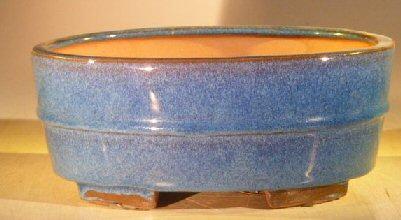 Blue Ceramic Bonsai Pot - Oval <br>Professional Series <br><i>10 x 8 x 4</i>