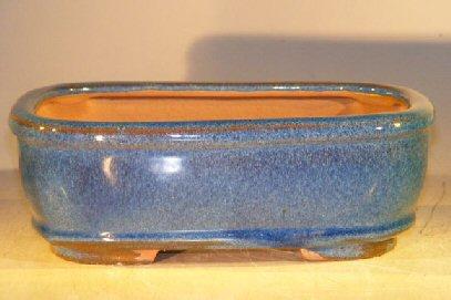Light Blue Ceramic Bonsai Pot - Rectangle 8 x 5.5 x 2.75 Image