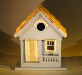 Architectural Birdhouse/Feeder - Yellow<br><i>(West Coast  Dweller)</i>