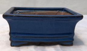 Blue Ceramic Bonsai Pot - Rectangle <br><i>6.125