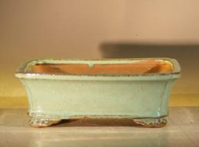 Light Green Ceramic Bonsai Pot - Rectangle<br><i>8