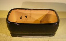 Black Ceramic Bonsai Pot - Rectangle<br><i>8.0