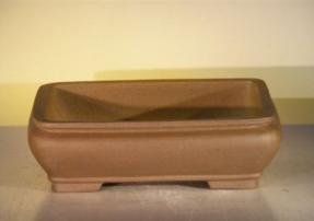 Tan Unglazed Ceramic Bonsai Pot - Rectangle<br><i>12