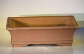 Tan Unglazed Ceramic Bonsai Pot - Rectangle <br>12
