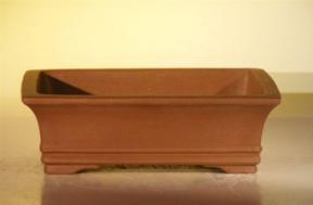 Brown Unglazed Ceramic Bonsai Pot - Rectangle<br><i>6.5