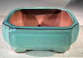 Light Blue Ceramic Bonsai Pot - Rectangle <br>Professional Series <br><i>6