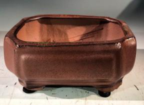 Aztec Orange  Ceramic Bonsai Pot - Rectangle <br>Professional Series <br><i>6