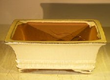 Beige Ceramic Bonsai Pot - Rectangle <br>Professional Series<br> 8.25