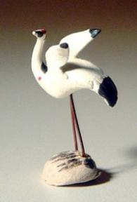 Ceramic Crane Figurine (small) - 1