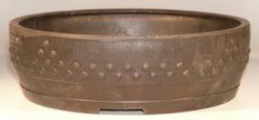Brown Mica Bonsai Pot - Round<br><i> 14