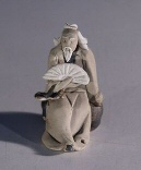 Ceramic Figurine  - Man Holding Fan<br>1.5