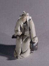 Ceramic Figurine  - Man With Pipe<br>1.5