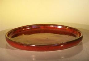 Parisian Red Ceramic Humidity/Drip Bonsai Tray - Round<br><i>12.0