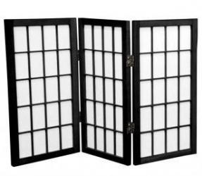 Desktop Window Pane Shoji Screen<br>3 Panels, 24