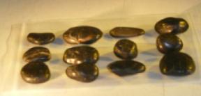 One dozen (12) Black Tumbled Zen Stones