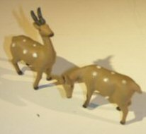 Ceramic Deer Figurines<br>Set Of Two