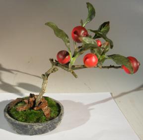 Artificial Rosehip Bonsai Tree<br>