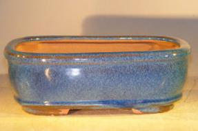 Light Blue Ceramic Bonsai Pot - Rectangle <br><i>8