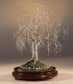 Silver Weeping Willowbonsai Tree Sculpture