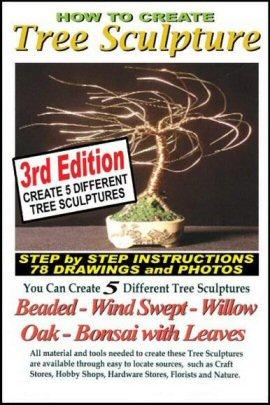 Wire Bonsai Tree Sculpture Book