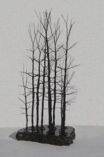 Wire Bonsai Tree Sculpture - Forest Scene